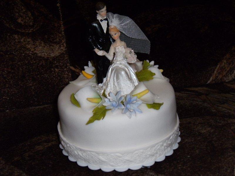 Vrchní patro svatebního dortu