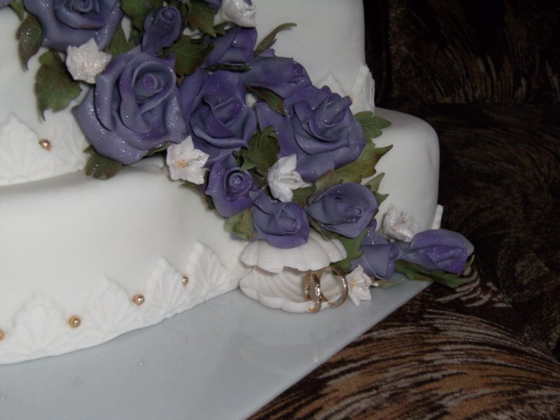 Mušle na svatebním dortu
