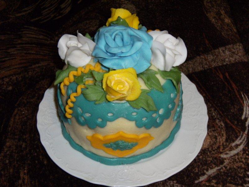 Druhý potahovaný dortík